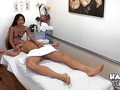 Gorgeous Asian beauties give regular guys a warm, hot massage. These nasty Asian babes will rub more than just your back; these nasty Asian hotties want to rub your dick down and climb on top that rock hard throbbing dick and ride you until you explode a